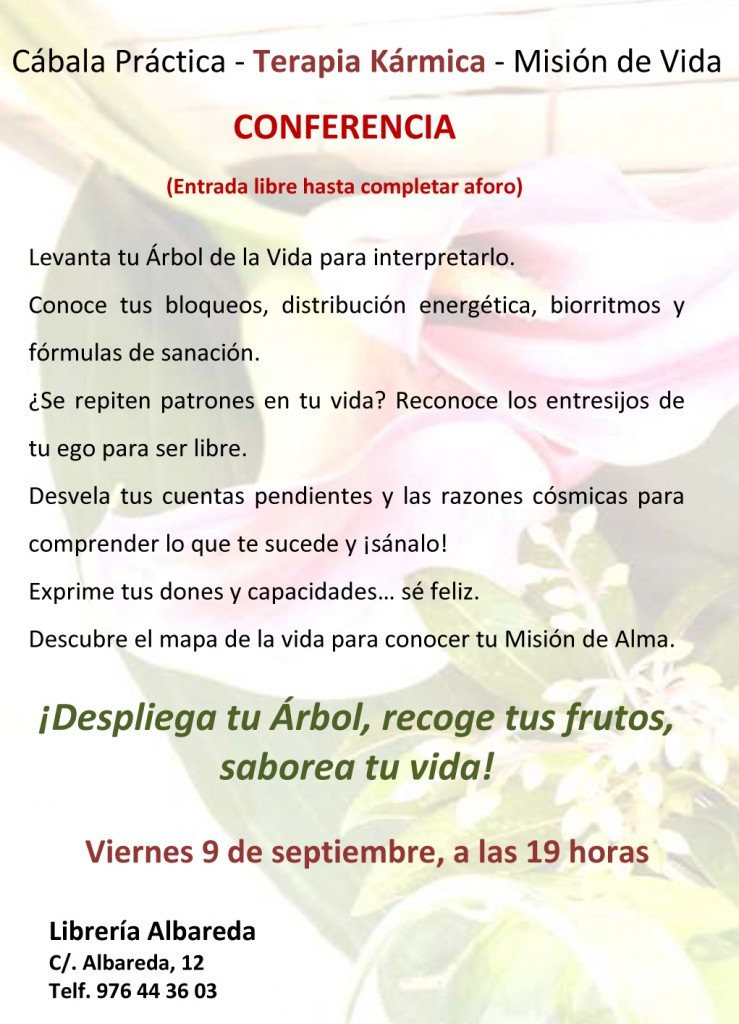 Cábala Práctica CARTEL CONFERENCIA 9 sept2016